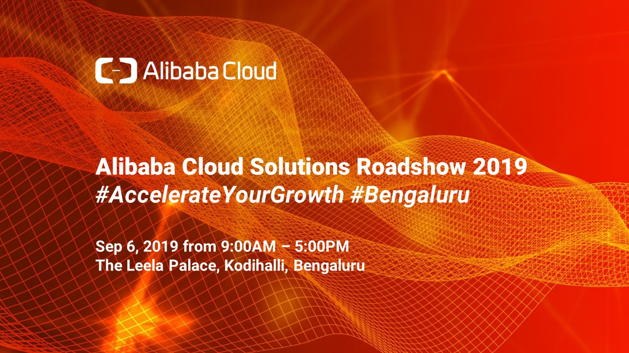 Alibaba Cloud Solutions Roadshow 2019